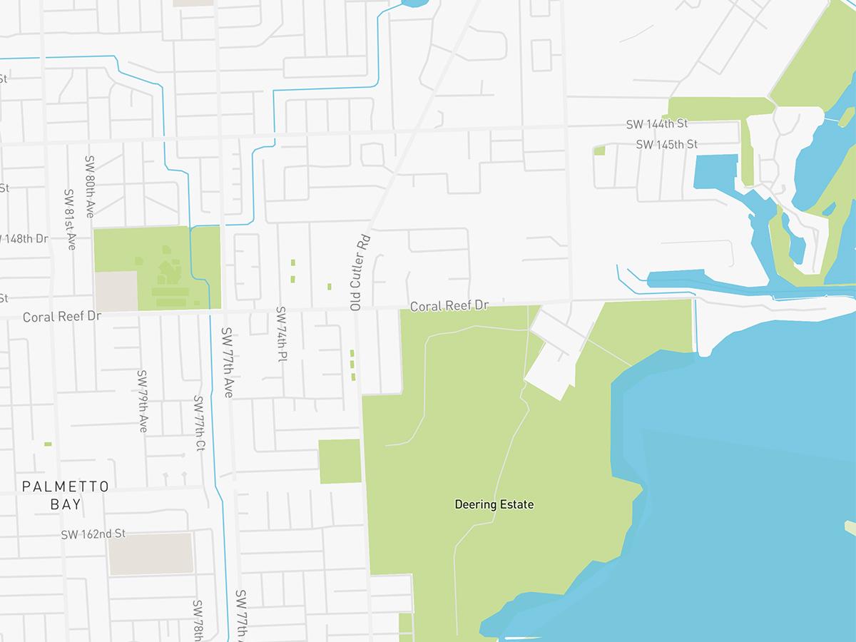 Map illustration of Palmetto Bay, Florida.